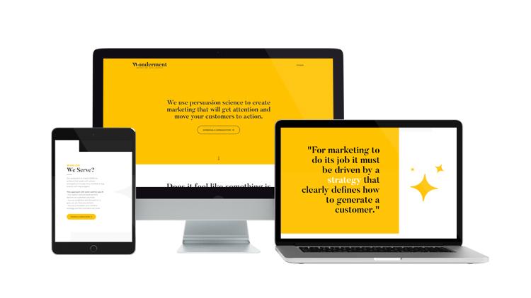 Wonderment Marketing Website