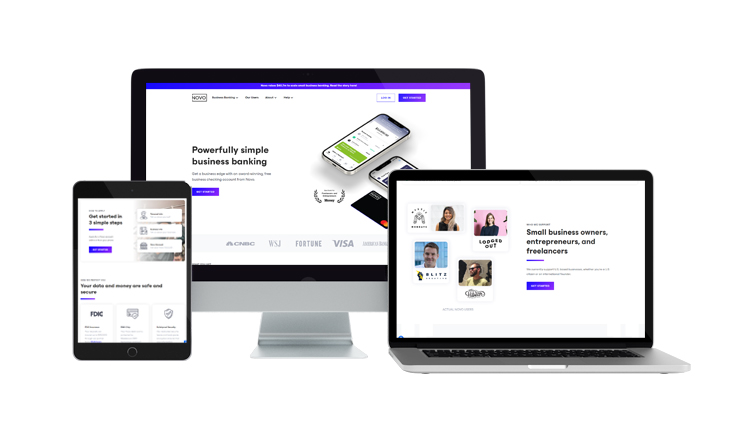 Bank Novo Website