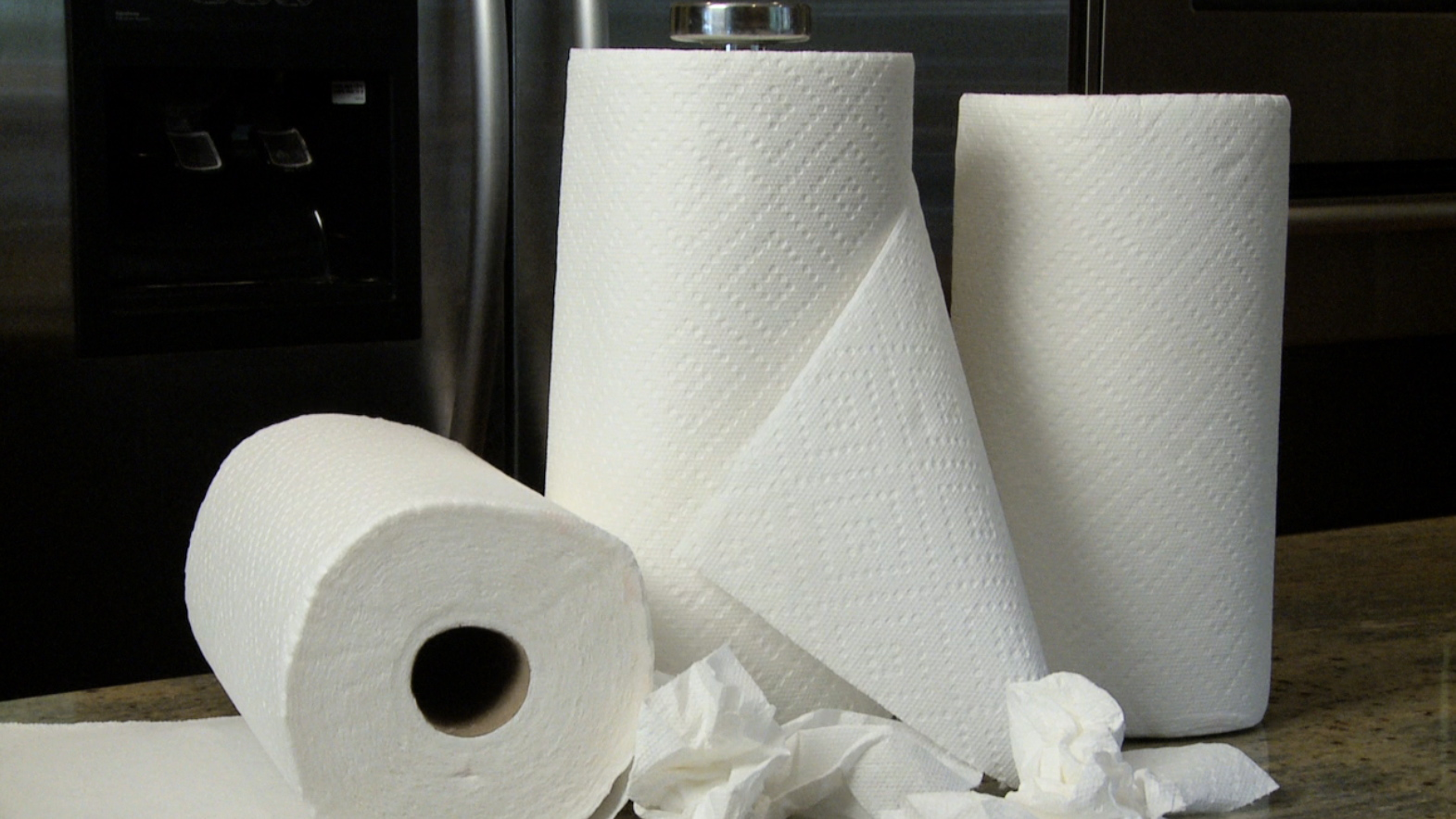 toilet paper and cleaning