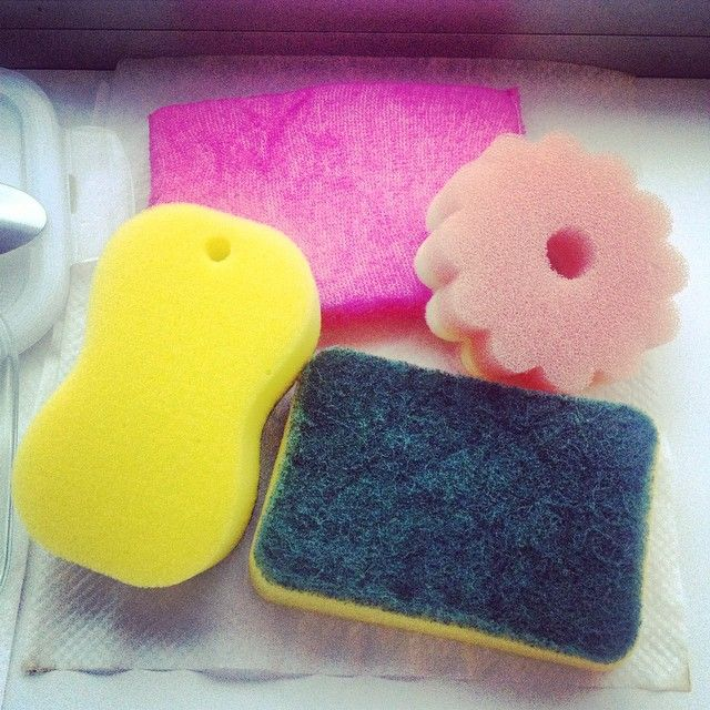home cleaning sponge