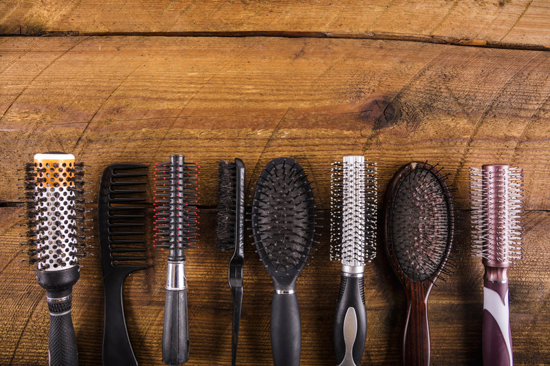 set of combs and hairbrushes