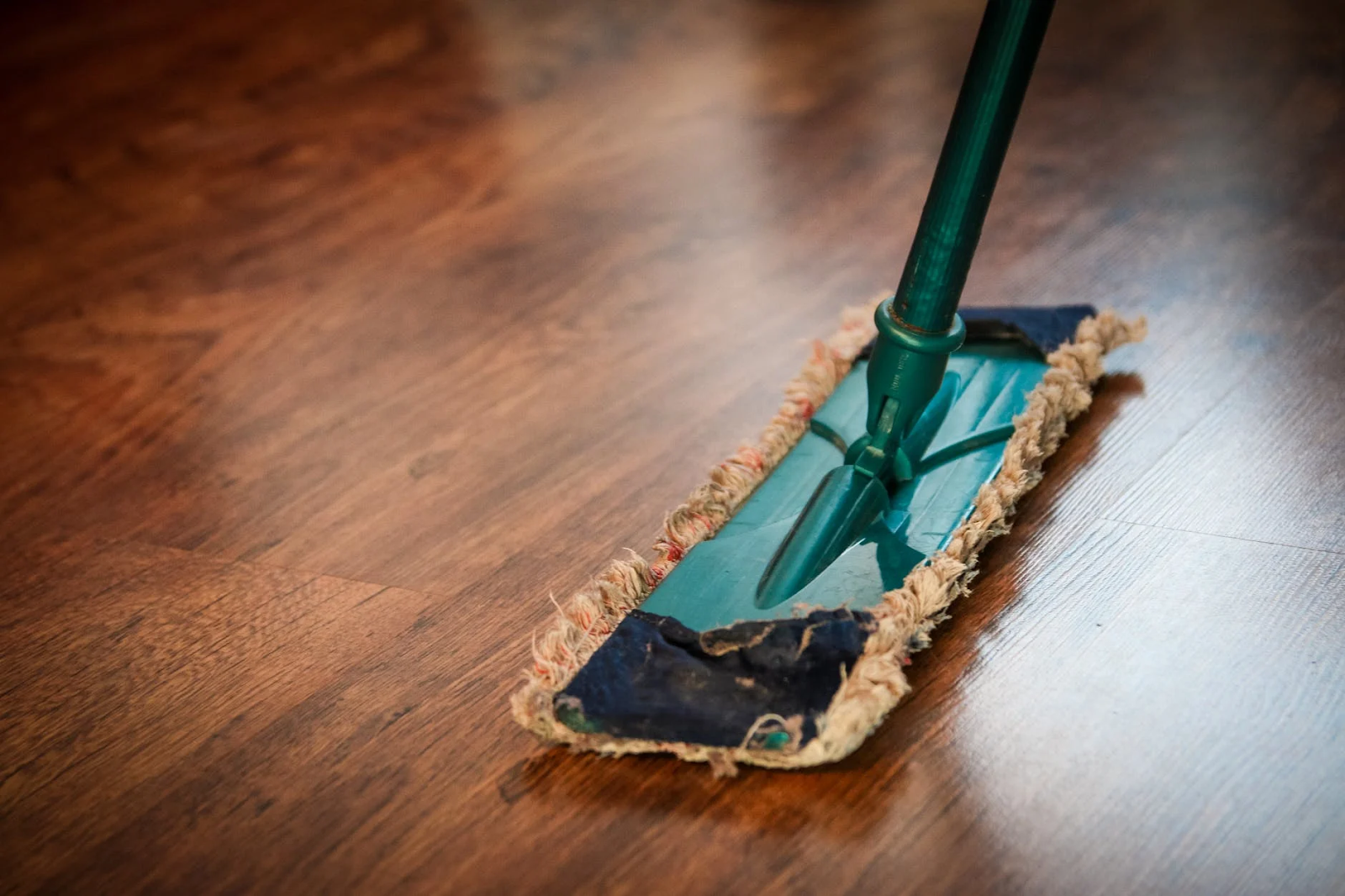 mopping hardwood flooring