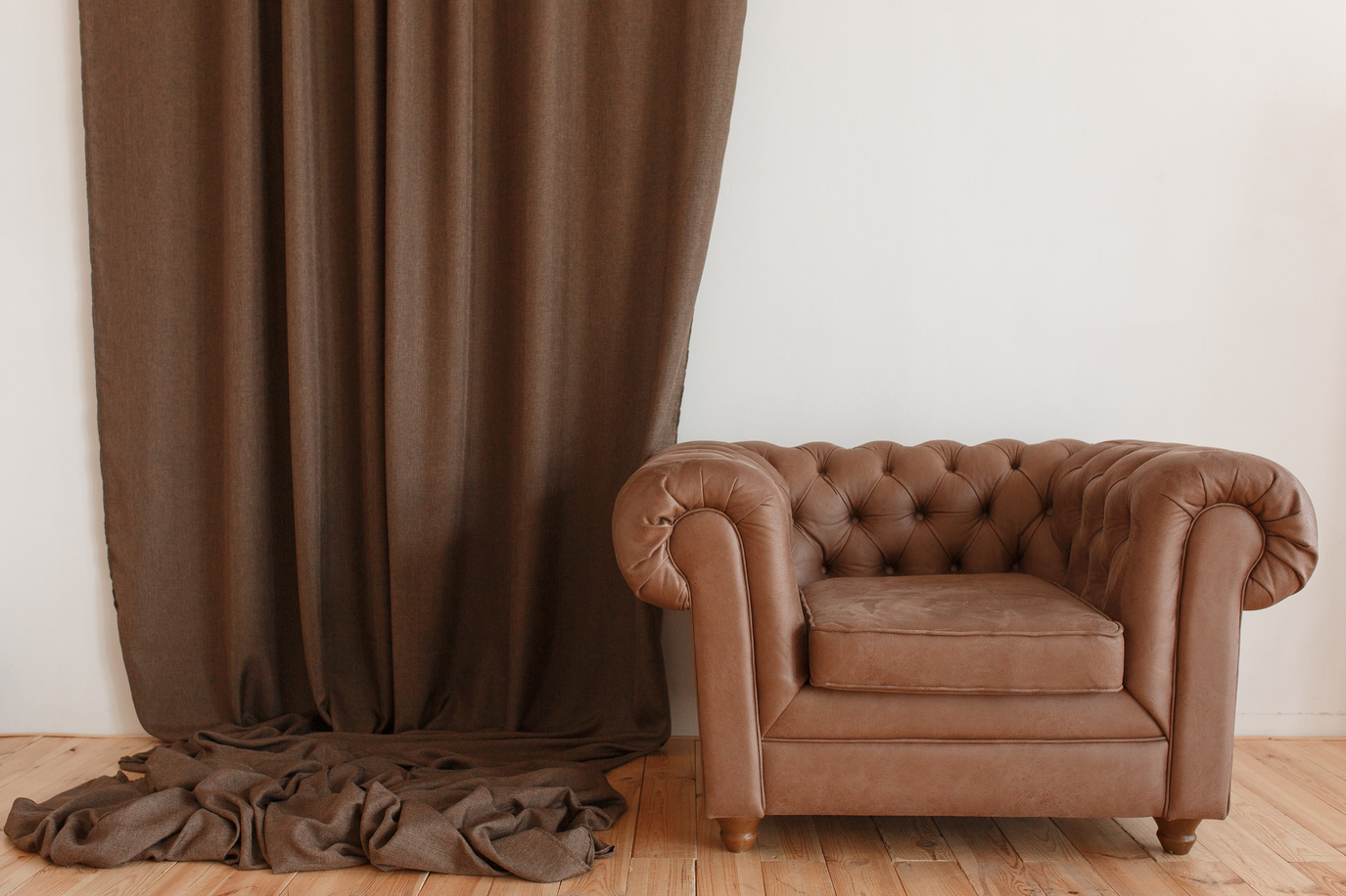 brown classic leather couch