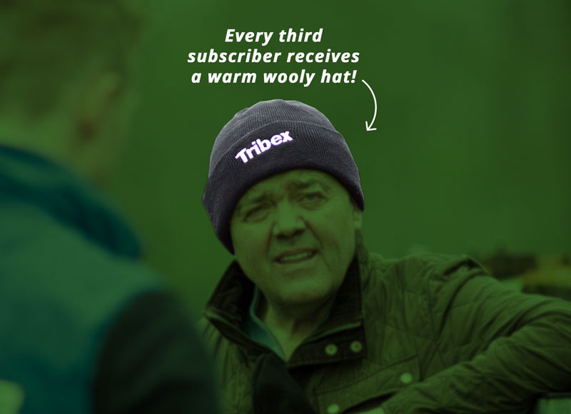 Every third subscriber receives a warm wooly hat!