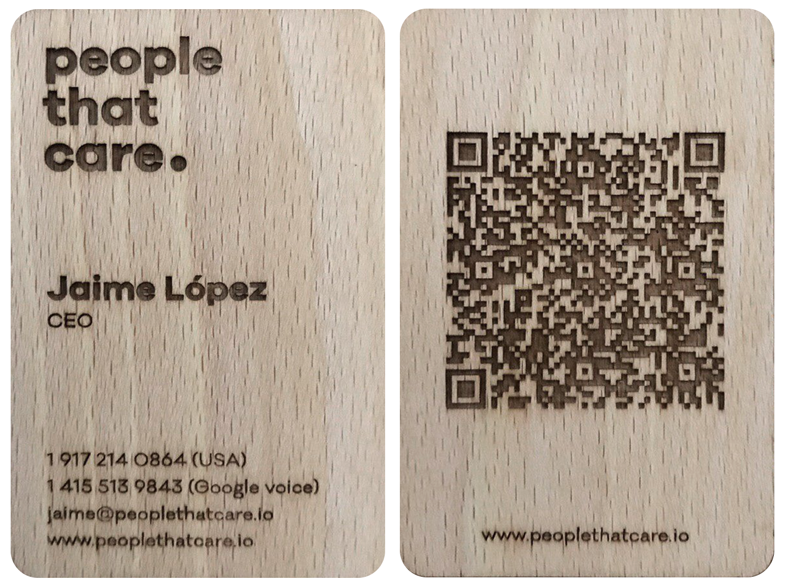 People That Care - Business card, contact