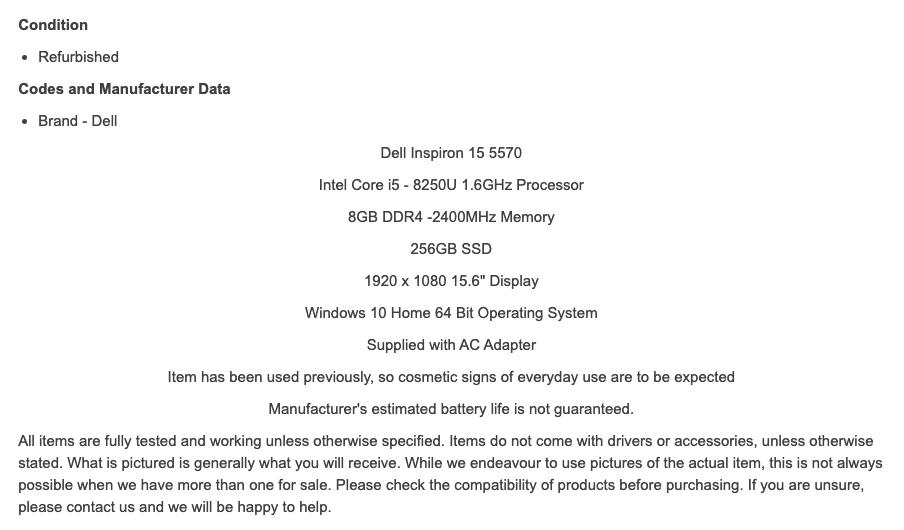 product description example for ebay seo