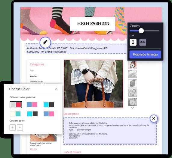 ebay listing design template