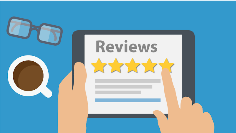 reviews on laptop vector art