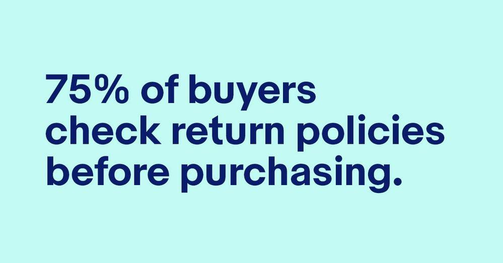 ebay return policy statistic