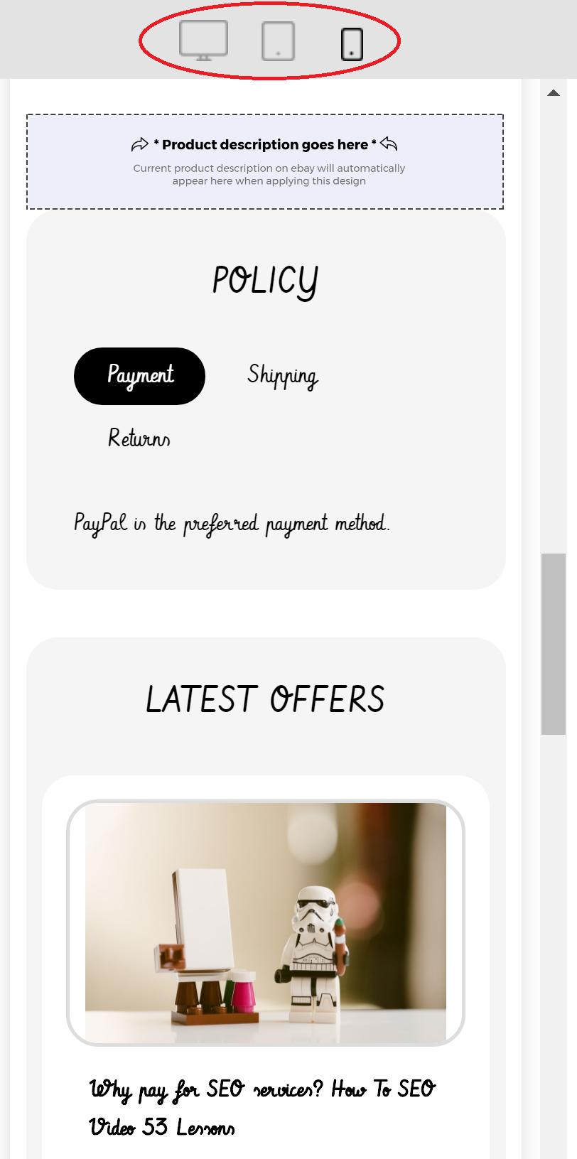 ebay listing template mobile responsive
