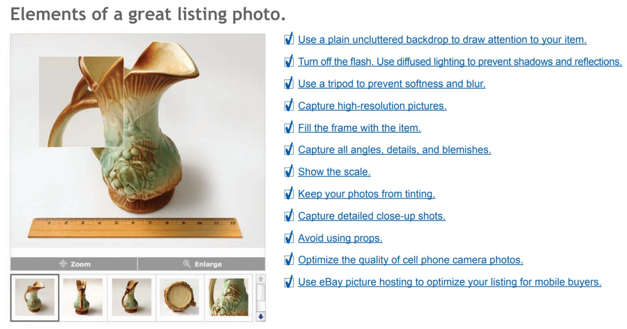ebay listing photo elements