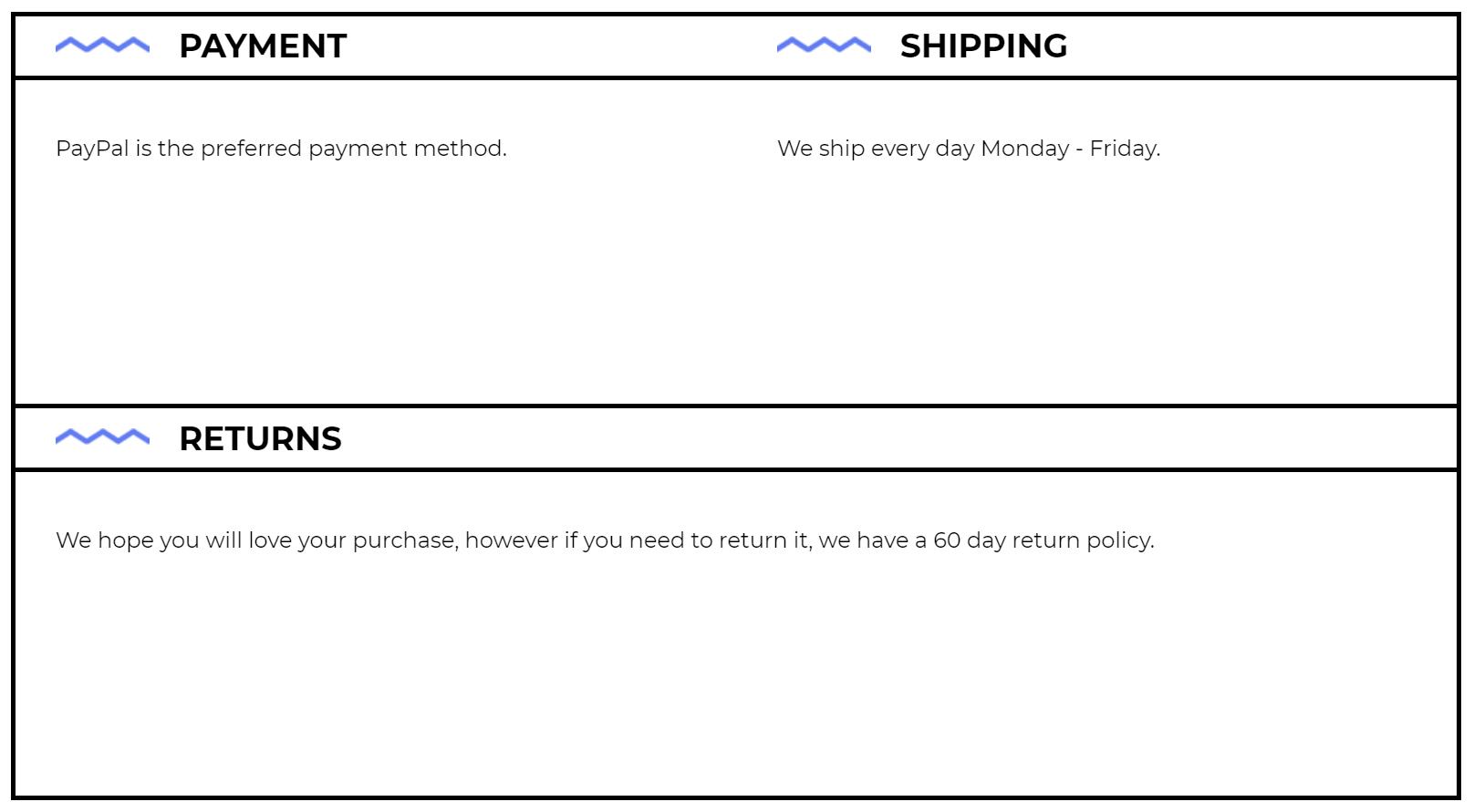 ebay seller disclaimer examples