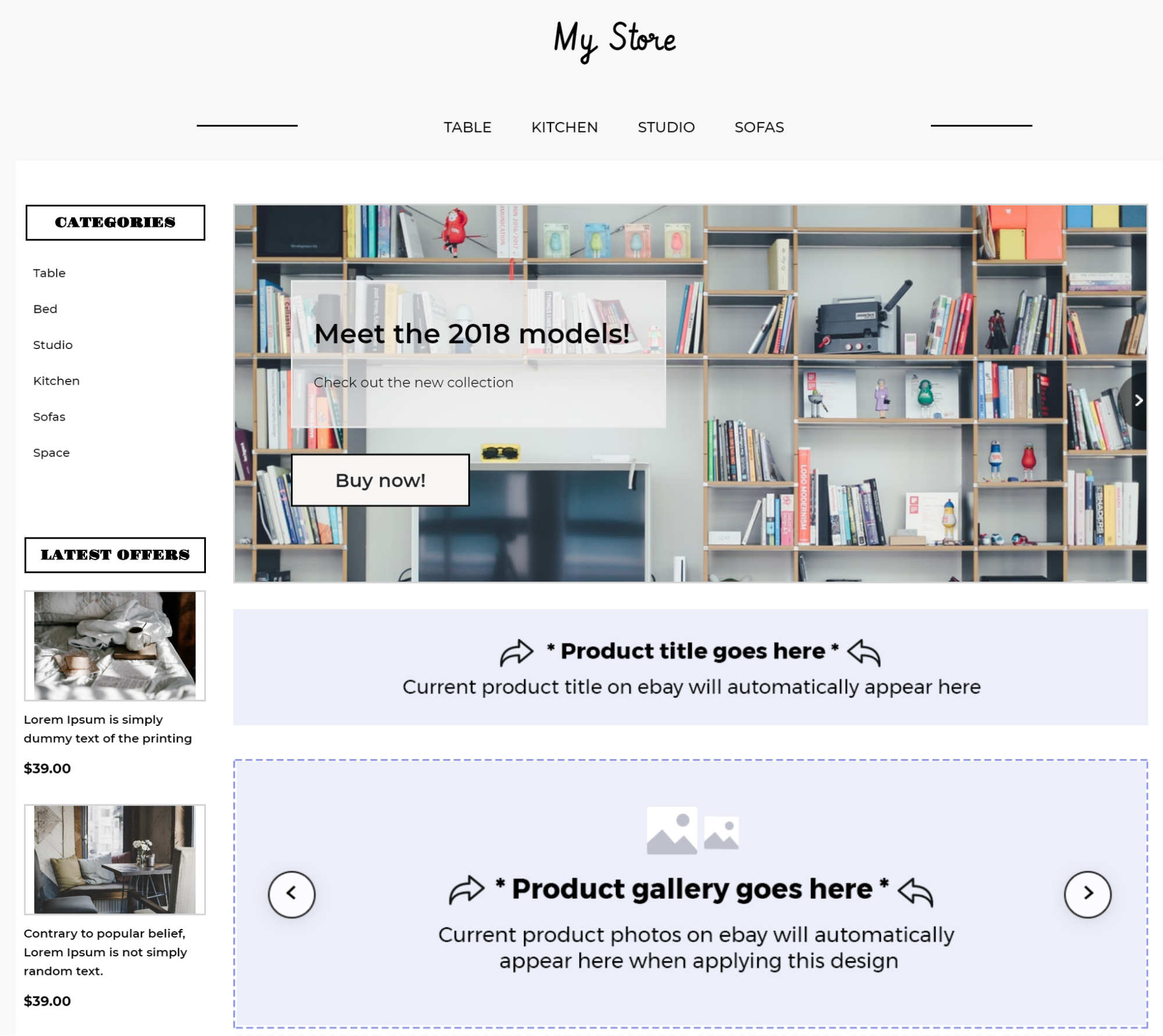 ebay store template first impression example
