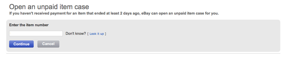 ebay final value fees - open unpaid item case