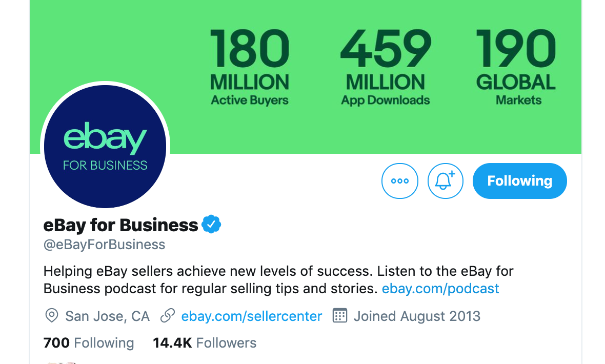 ebay for business twitter
