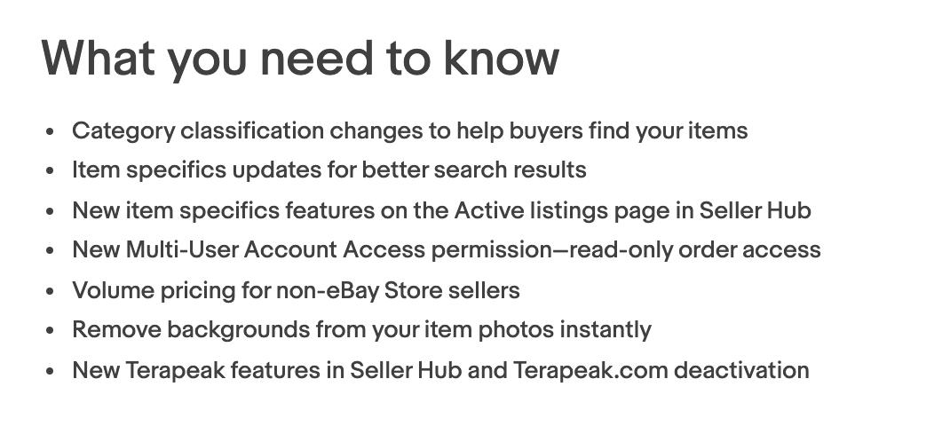ebay listing updates 2020