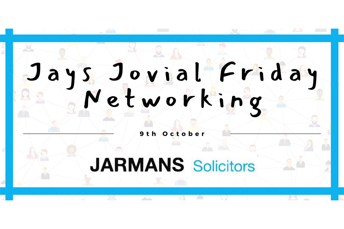 Postponed - Logon to Jay's Jovial Friday networking event