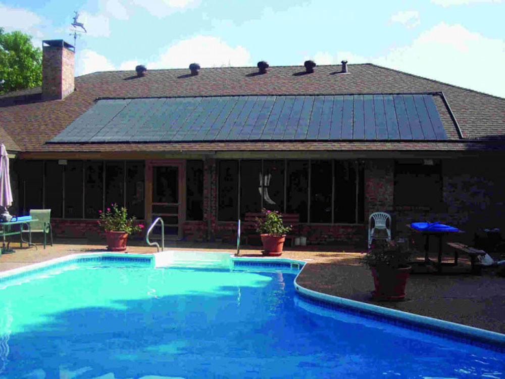 hudson solar pool heating project