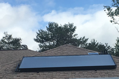 solar water heater on a hudson home