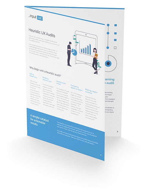 Bifold report cover of heuristic audit download