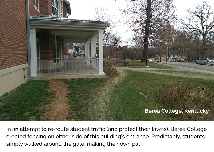 A failed attempt to redirect student foot traffic at Berea College