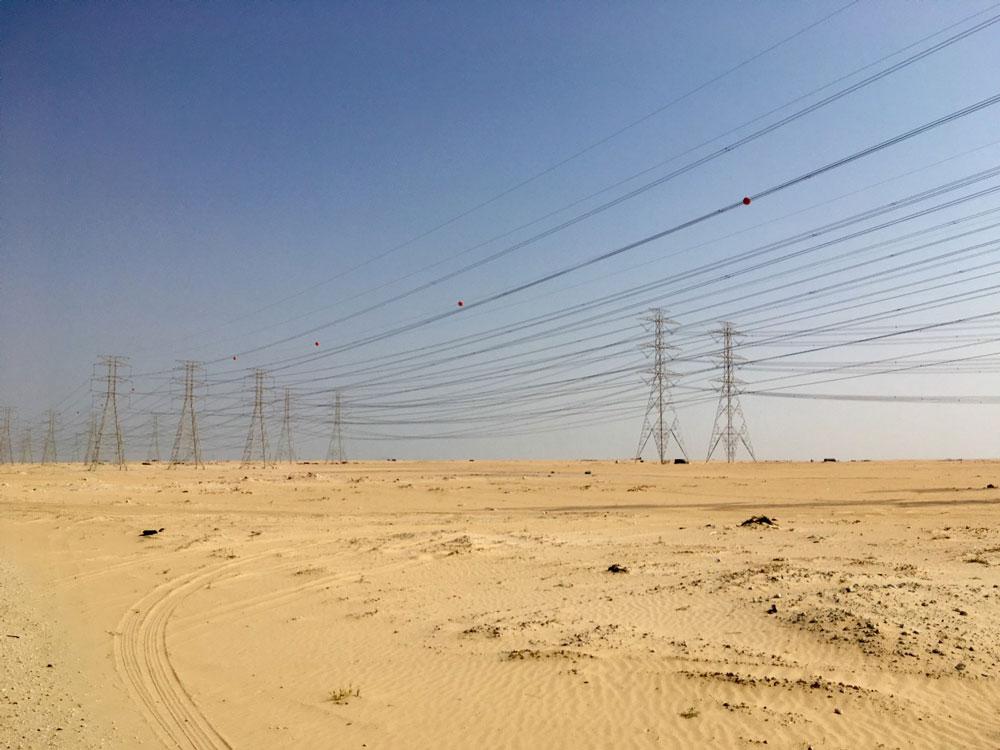 Transmission grid landscape in Saudi Arabia