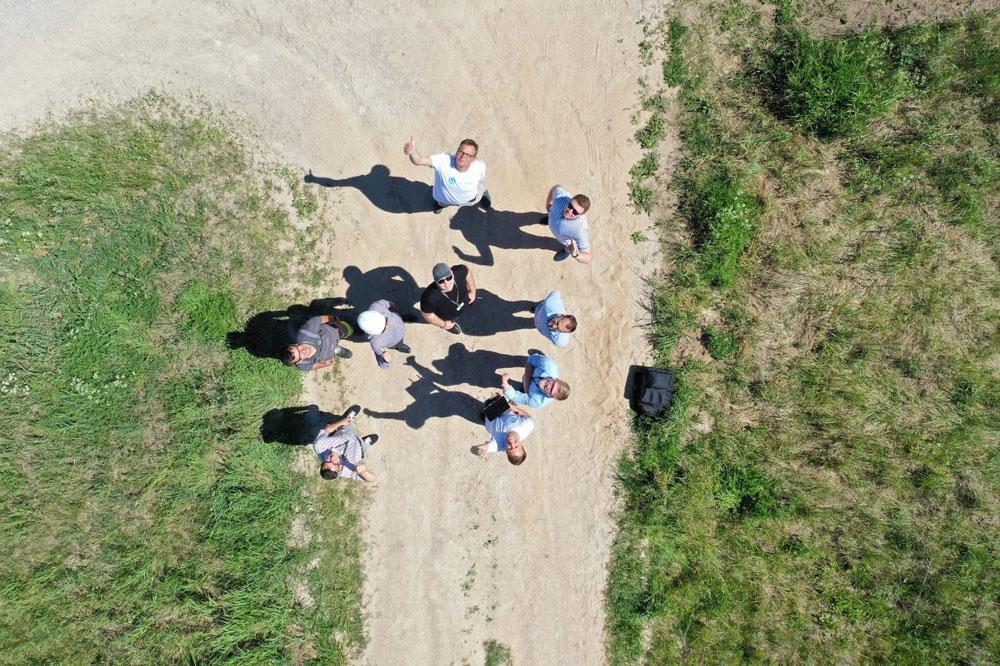Drone foto de Energijos Skirstymo Operatorius e Sterblue equipas na Lituânia