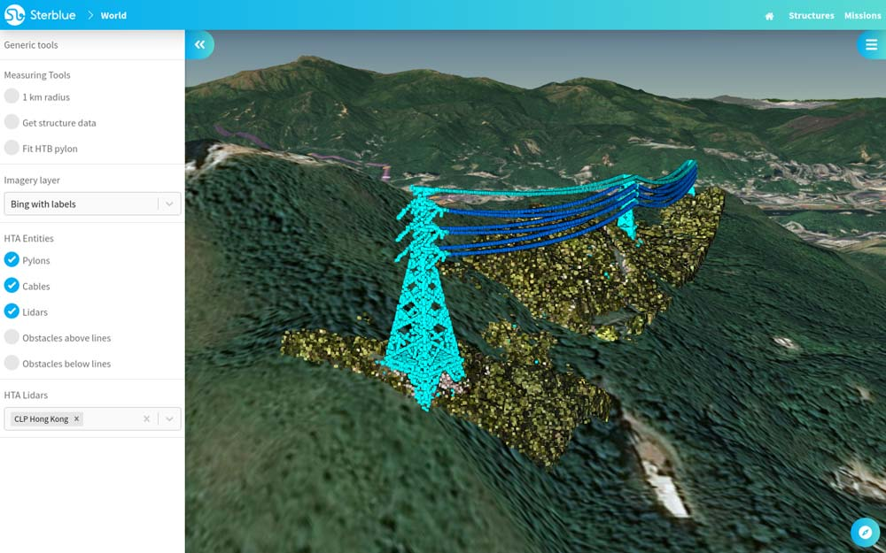Lidar data from CLP lines integrated to Sterblue Cloud