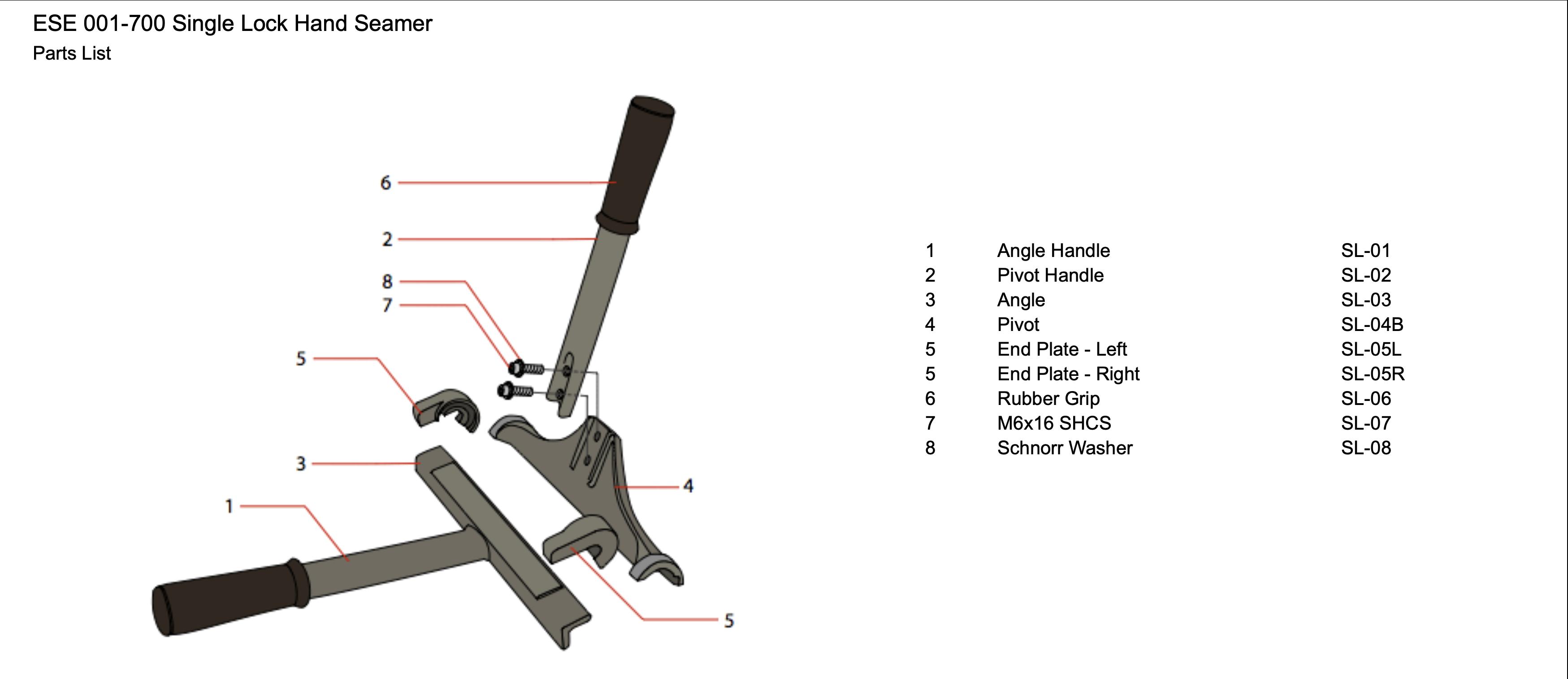 ese-001-700-single-lock-hand-seamer