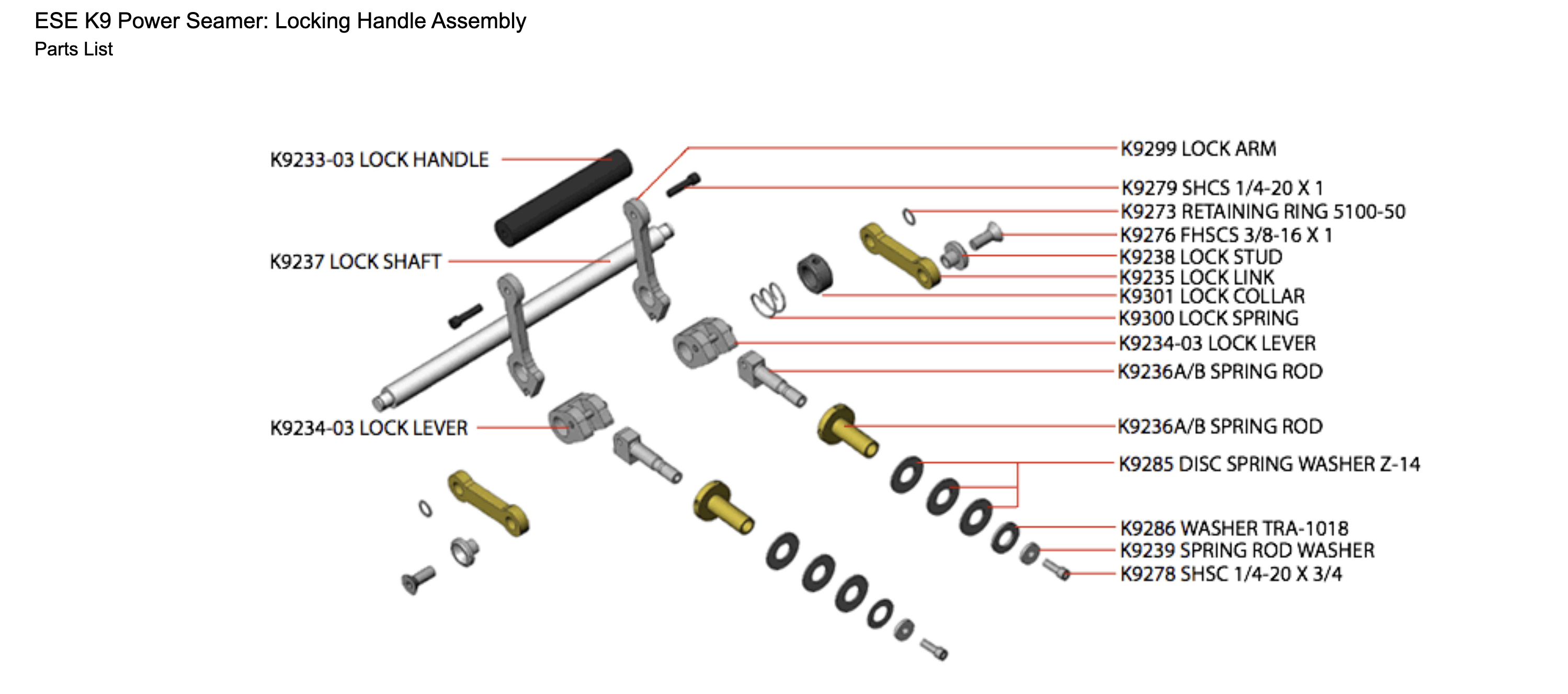 ese-k9-power-seamer-locking-handle-assembly