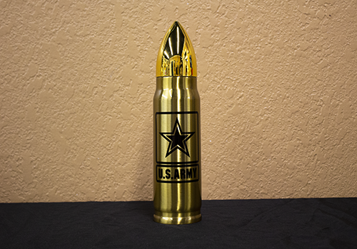 17oz Gold Army Logo Bullet Thermos