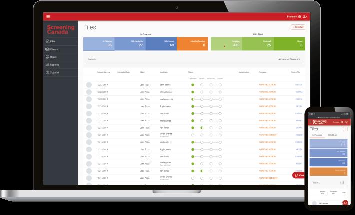 ScreeningCanada background screening platform for all devices
