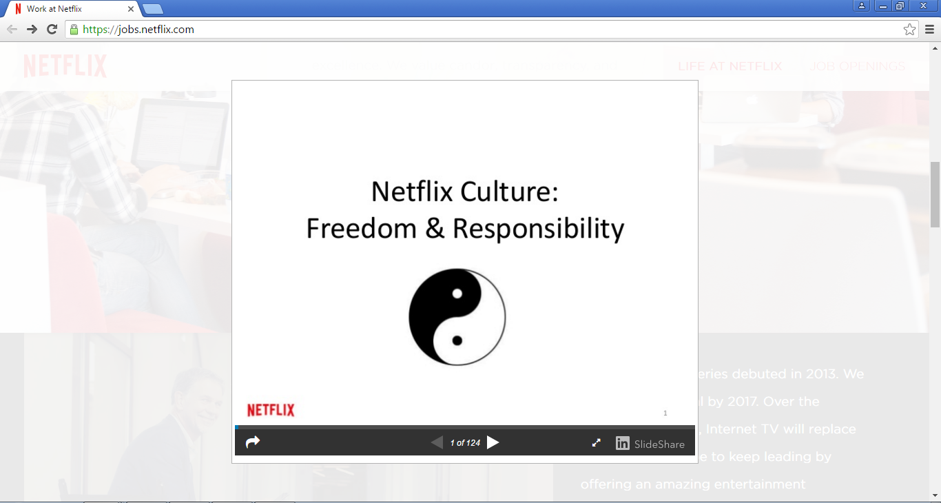 Netflix culture during onboarding