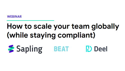 How to Scale your team Globally (while staying Compliant)