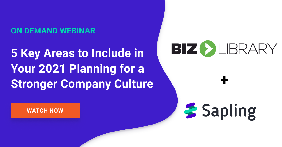 5 Key Areas to Include in Your 2021 Planning for a Stronger Company Culture