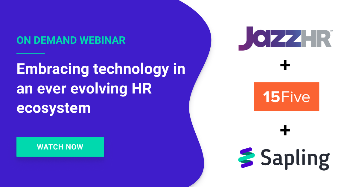 Embracing Technology in an Ever Evolving HR Ecosystem