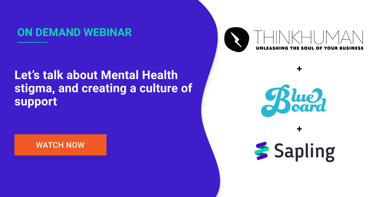 Let's talk about Mental Health stigma, and creating a culture of support
