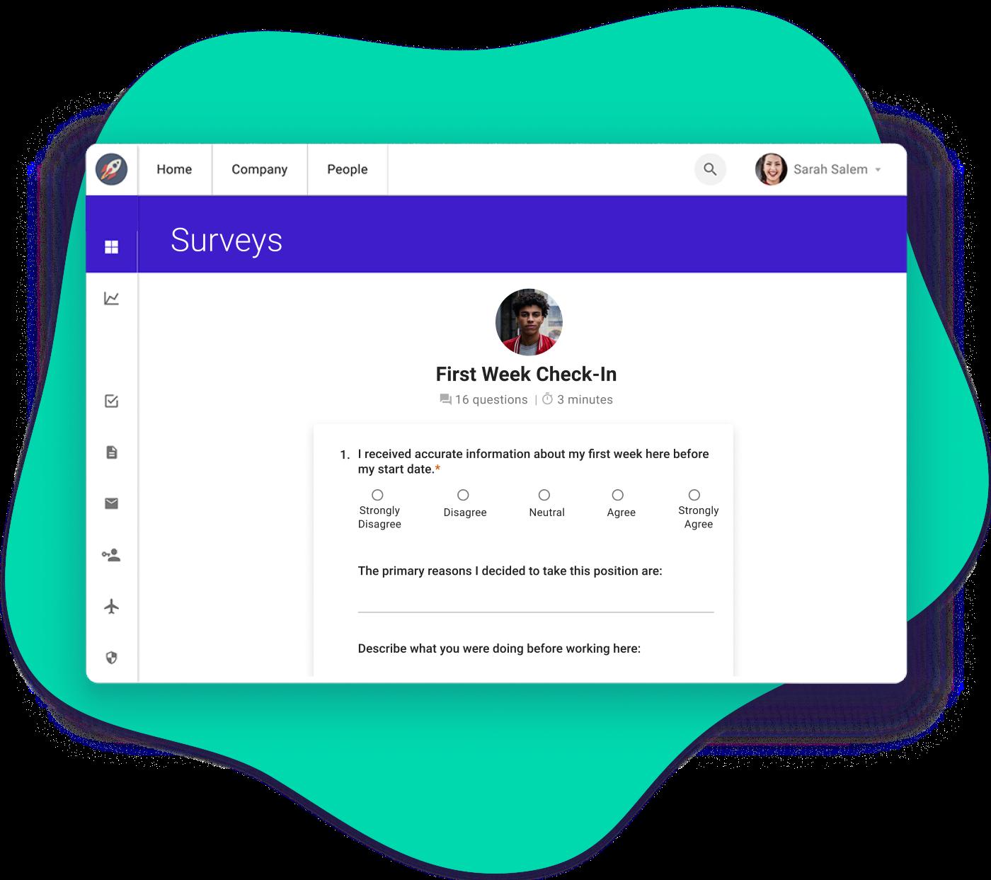 Sapling Surveys Interface