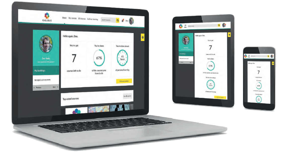 Sapling + Kallidus Learn - Personalized Dashboard