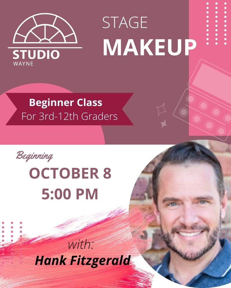 Studio Wayne (Class) - Stage Make-up (Beginner- 3rd-12th Grade)
