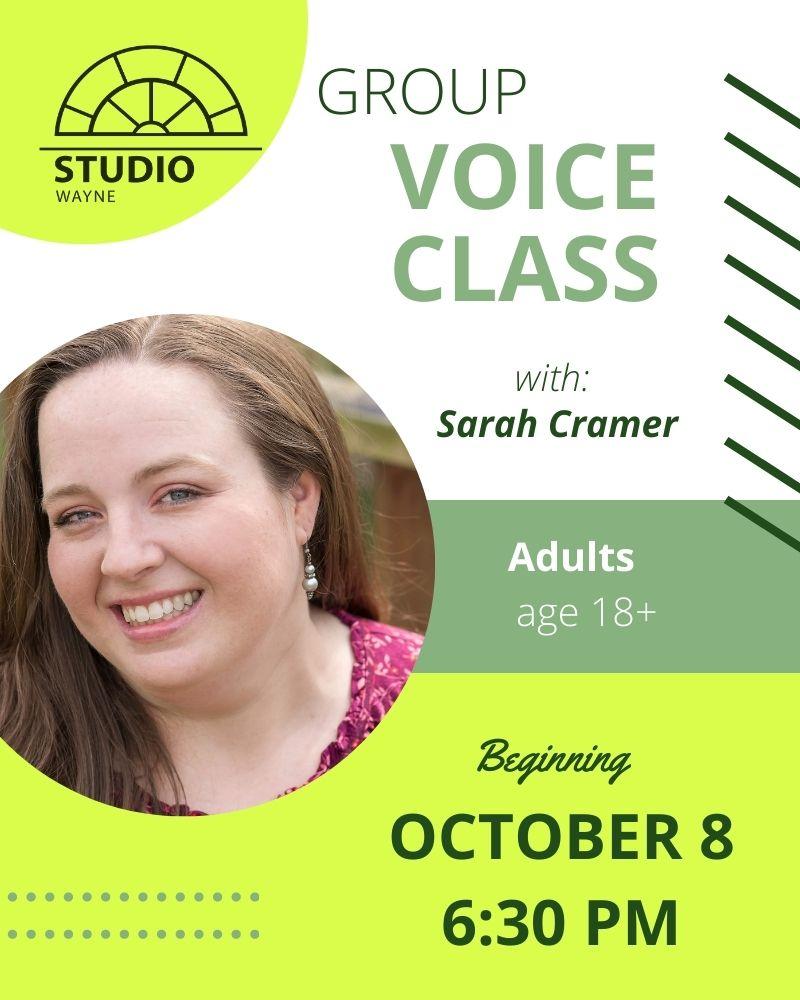 Studio Wayne (Class) - Group Voice Class (Adults-18 yrs+)