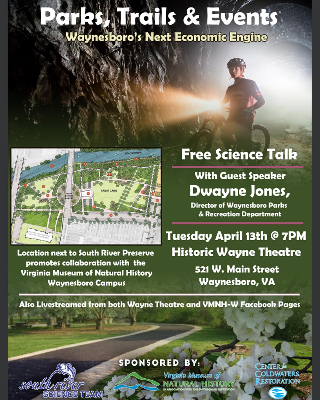 Science Talk: Parks, Trails & Events – Waynesboro's Next Economic Engine