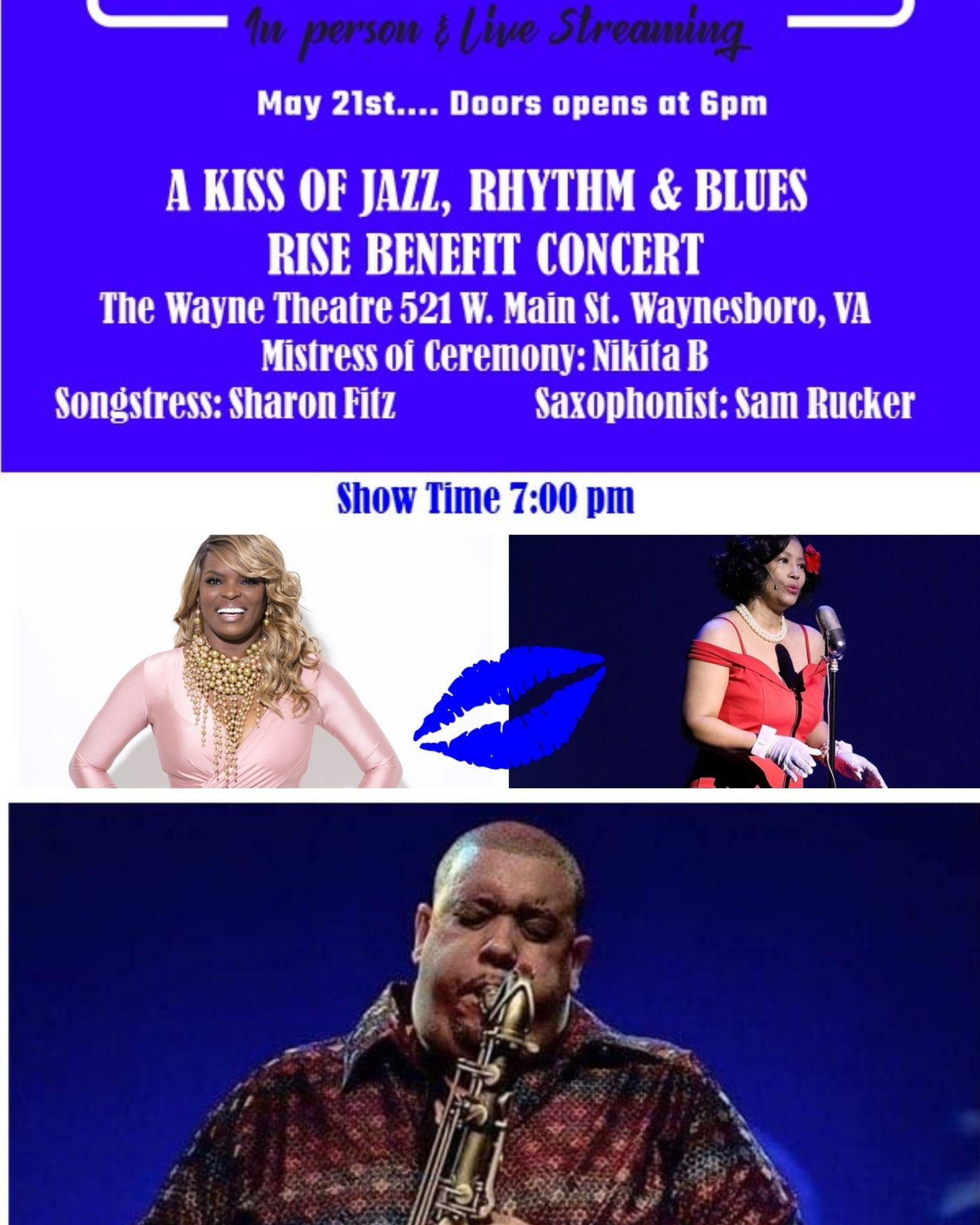 A Kiss of Jazz, Rhythm & Blues - RISE Benefit Concert