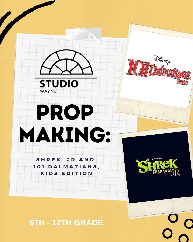 Studio Wayne: Prop Making: Disney 101 Dalmatians KIDS and Shrek The Musical, JR Edition