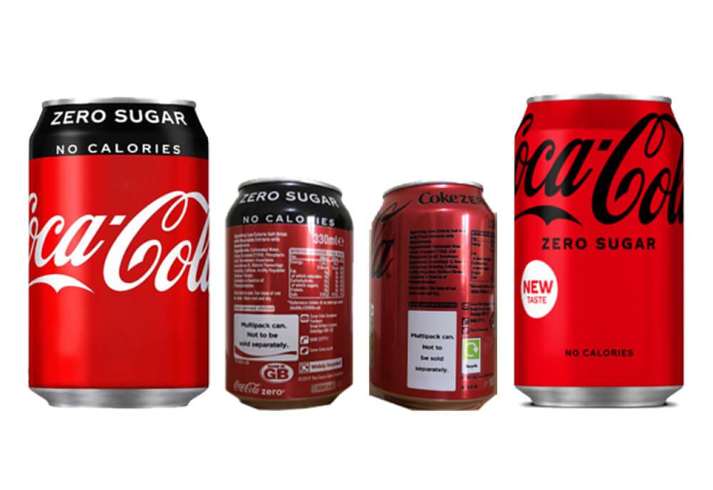 Coca-Cola Zero Sugar Cans get Revamp