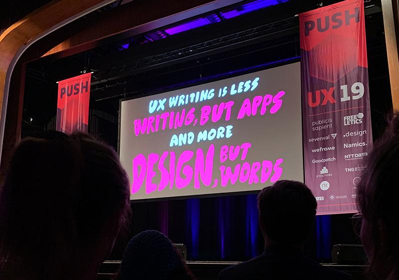 Vykort från UX-konferensen Push 2019