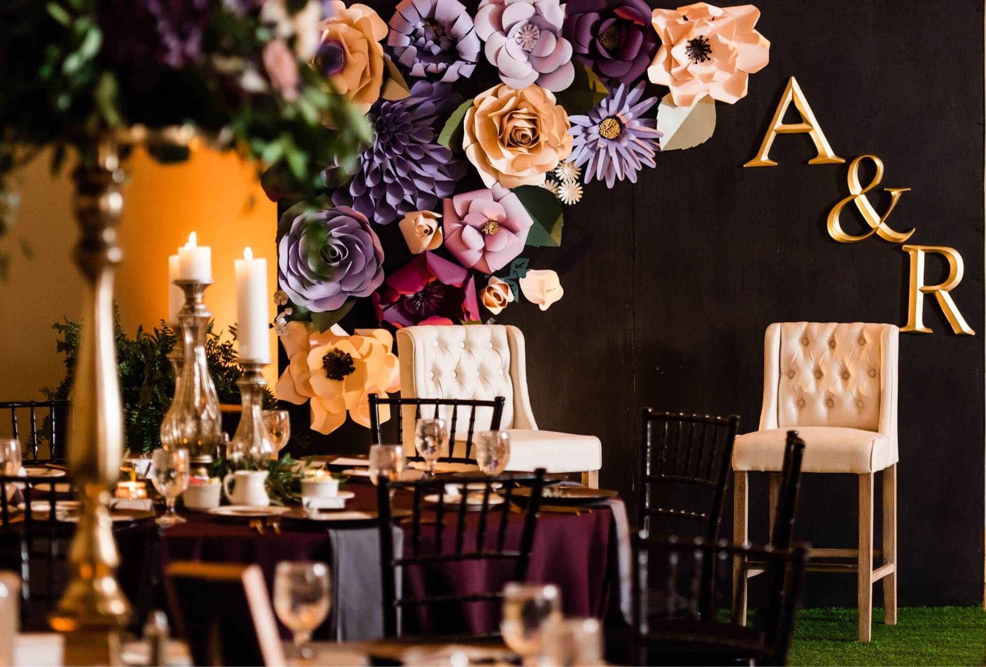 Full-service wedding catering at The Fluted Mushroom