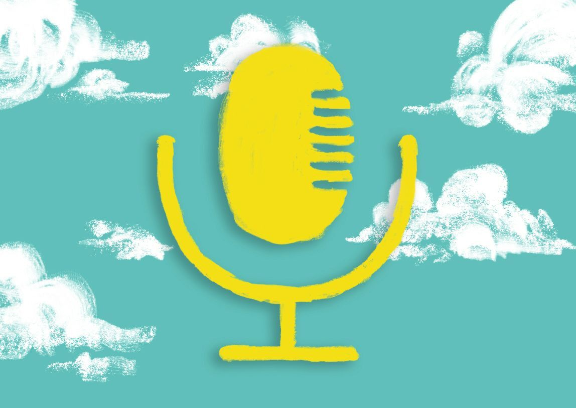 Microphone on clouds