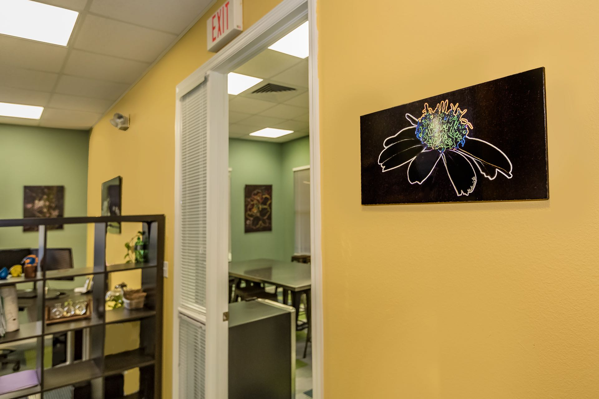 Kent Kimes Engineering - Crazy Daisy by Conference Room Door