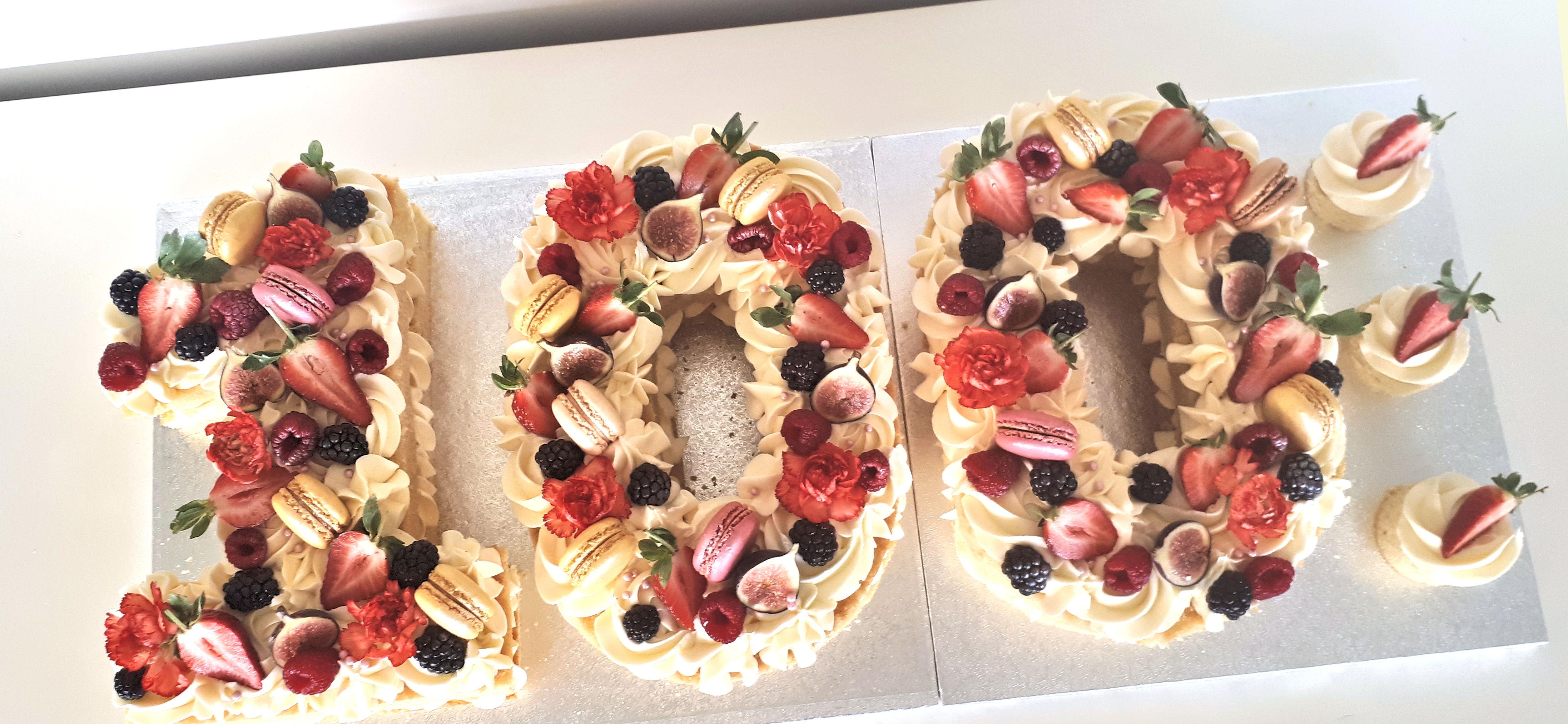 100th birthday naked number cake